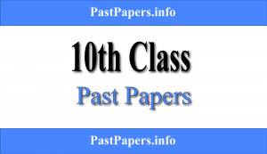 10th Class Past Papers With Solution