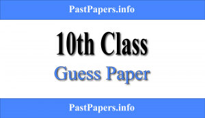 10th Class Guess Paper 2021