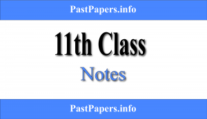 11th Class Notes All Subjects