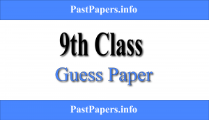 9th Class Guess Paper 2021