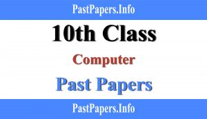 10th class computer past papers with solution