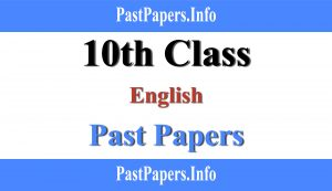 10th class English Past paper with solution