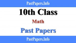10th class Math Past paper with solution